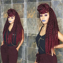 Havana middle twist hair braids with ombre color 22inch braiding hair for black women