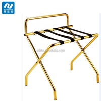 metal folding gold luggage racks for hotels