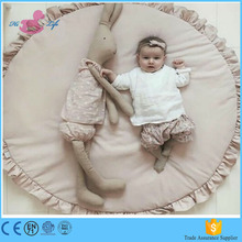 Amazon hot sale super soft cotton round play mat kids playmate for kids baby carpet