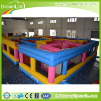 Giant outdoor inflatable maze obstacle maze / inflatable maze for sale / inflatable maze playground