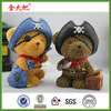 Funny pirate bear figurine gift