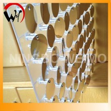 Sequin wall panel hanged for room divider transparent plastic panels