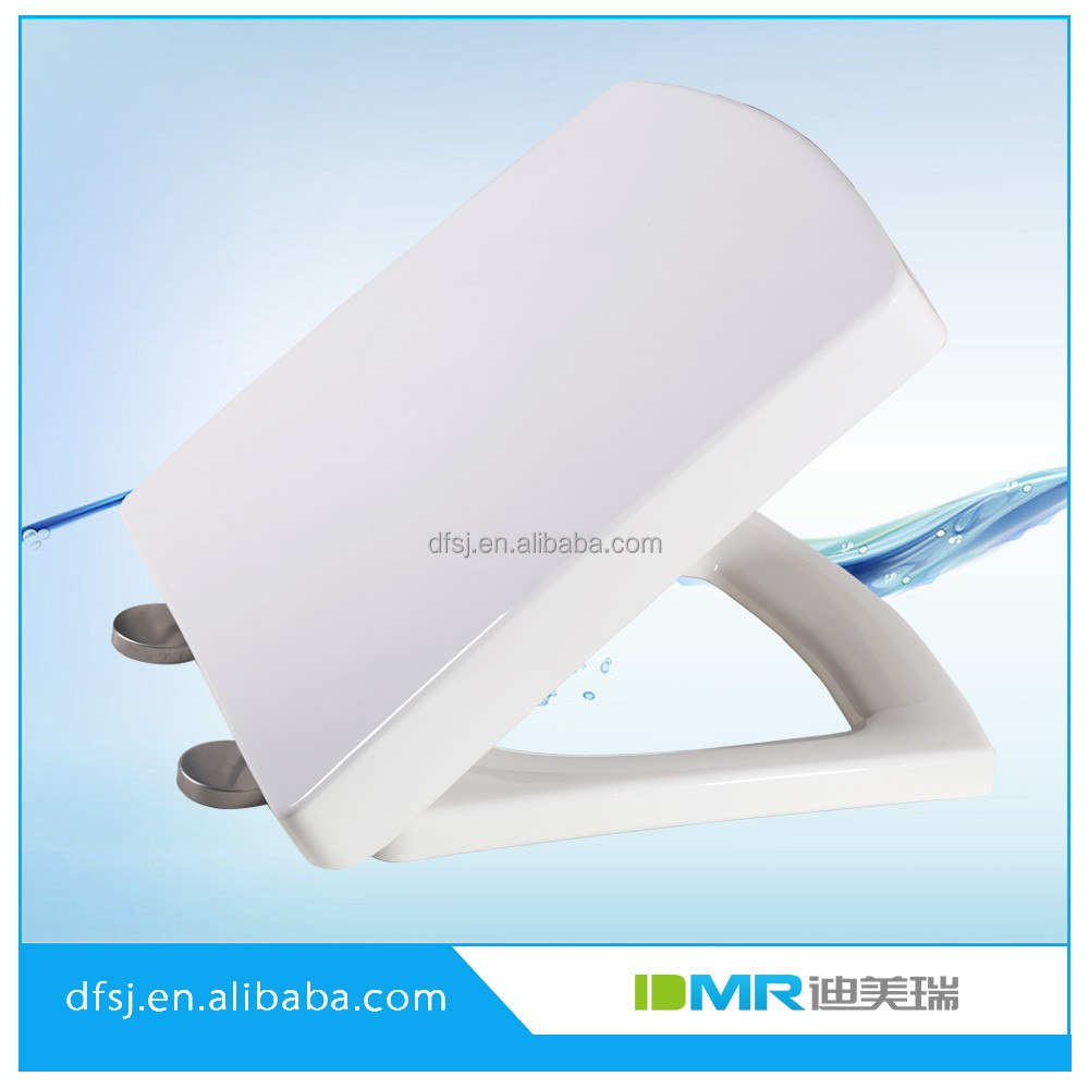 Soft close flat toilet seat cover price with stainless steel hinges