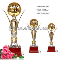 Custom sculpture trophy metal,award metal trophy,global trophy metal