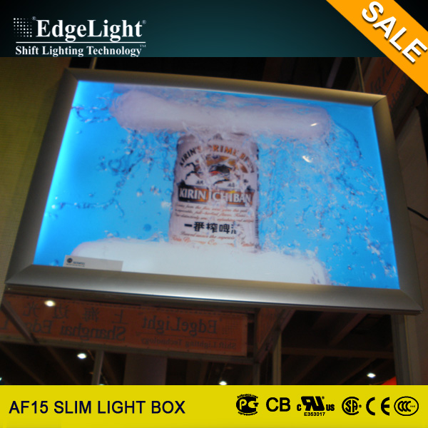Edgelight new style picture frame a4 led display light box for order meal menu