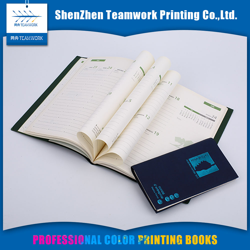 Global books print Wire-o binding Glossy or matt lamination color notebook printing services