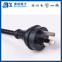 Good Quality 3 Pin Plug Australia Piggyback Power Cord