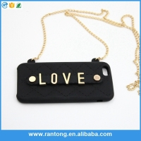 GuangZhou manufacturer Luxury handbag silicone mobile phone case for iphone 5
