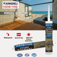 Water and weather resistant colored multi purpose silicone sealant