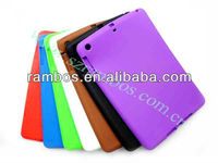 Hot silicone back protector rubber gel skin cover case for iPad mini