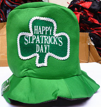 Ireland happy ST Patricks festival green shamrock crazy party top hat