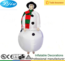 ADULT INFLATABLE FROSTY THE SNOWMAN XMAS CHRISTMAS FANCY DRESS COSTUME OUTFIT