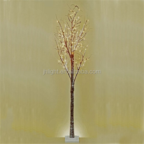 Snowy Light-up Twig Tree 60CM/2FT Brown/White Christmas LED Lights Winter Snow Branch Tree Light