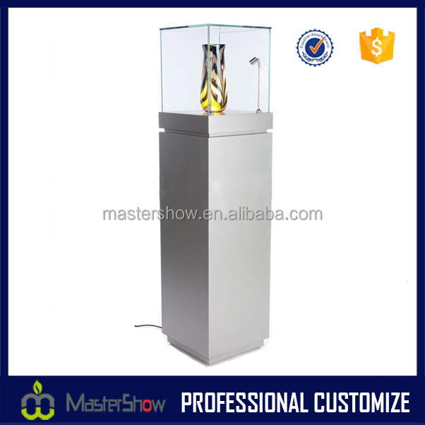China custom LED light wooden glass jewelry display cabinet