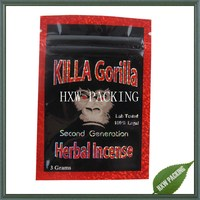 Killa gorilla 3g second generation herbal incense bag for wholesale