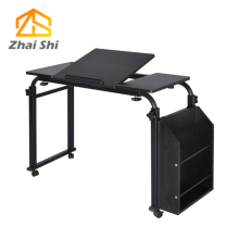 Cross-bed desktop computer desk tilt mobile nursing home laptop table