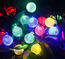 20 LED Flashing Cute Outdoor Solar Powered Led String Lights with Lotus Flower Shape PT-007