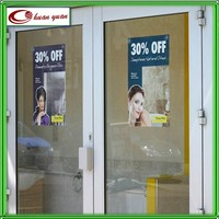 glass ,window static cling film digital printing decal