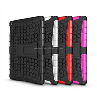 PC +tpu combo robot hybird kickstand case for ipad air 2