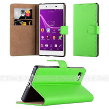 Flip Multicolor Genuine Leather Cellphone Case for Sony Z5 Mini, for sony xperia e c1504/c1505/c1605 case