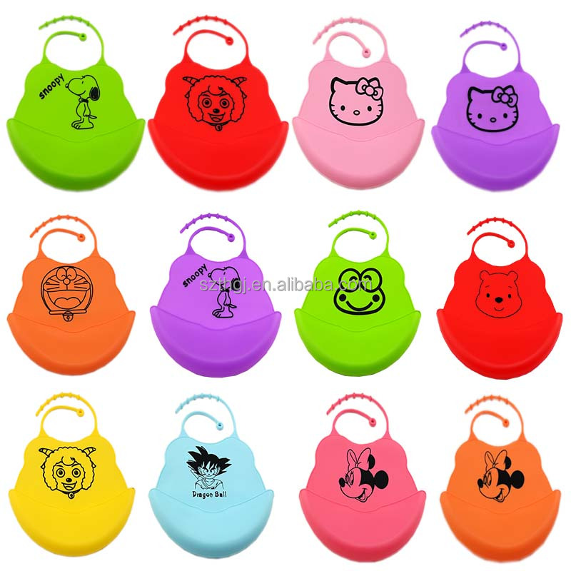 Waterproof customized design FDA standard silicone rubber baby bib with high quality