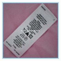 100% cotton garment washing instruction labels