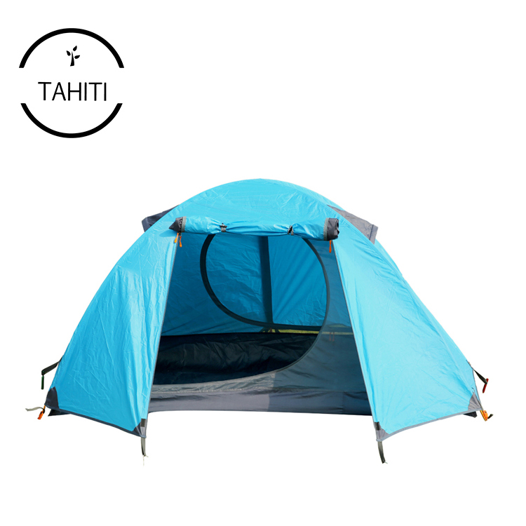 Outdoor Double One 2 Man Waterproof Aluminum 4 Season Custom Print Backpacking Camping Equipment Fireproof Lightweight <strong>Tent</strong>