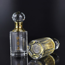 Hot Selling 12 Prism Shape Crystal Glass Bottle for Lady Perfume