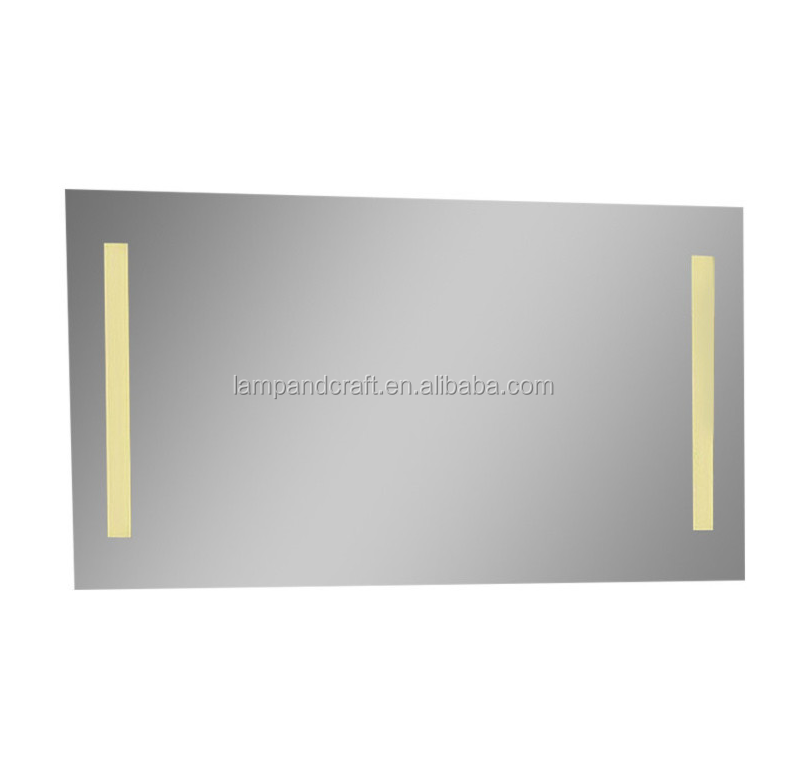 Usa Latest Waterproof Bathroom Mirror Warm Light With Rectangle Double Line For Hotel
