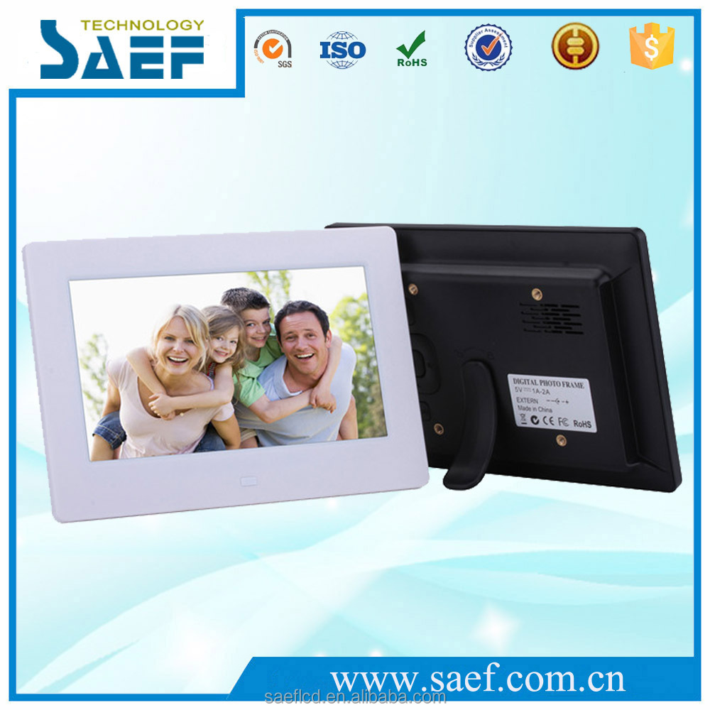 Manufacturer 7'' LCD digital photo frame with MP3 pictures Video Playback