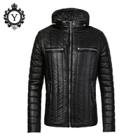COUTUDI Warm Winter Coat Men Black