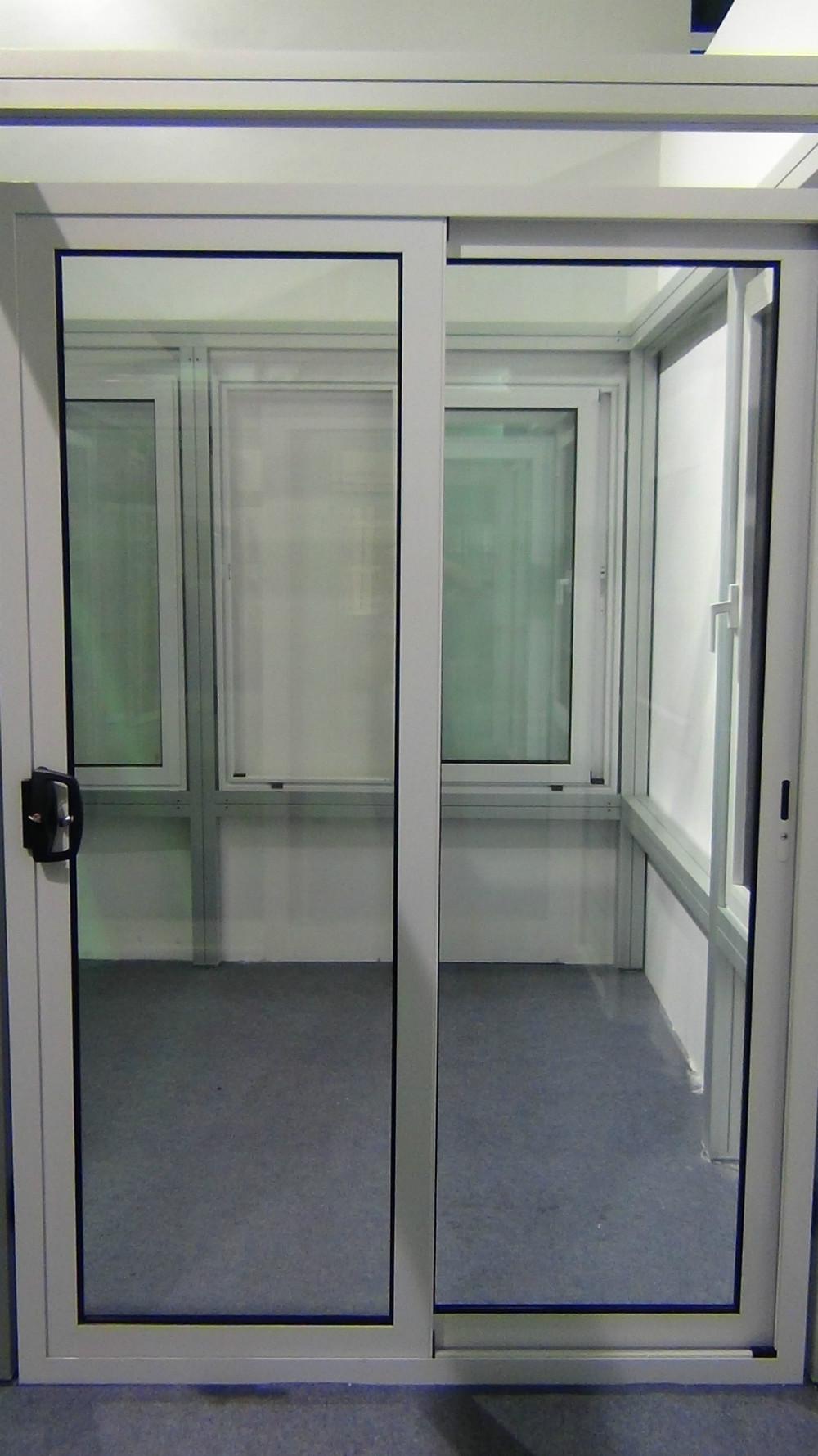 Metal Frame Window Panels : Commercial triple track aluminum frame three panel sliding