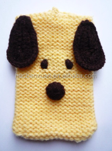 Knitted Cell Phone Case - Puppy