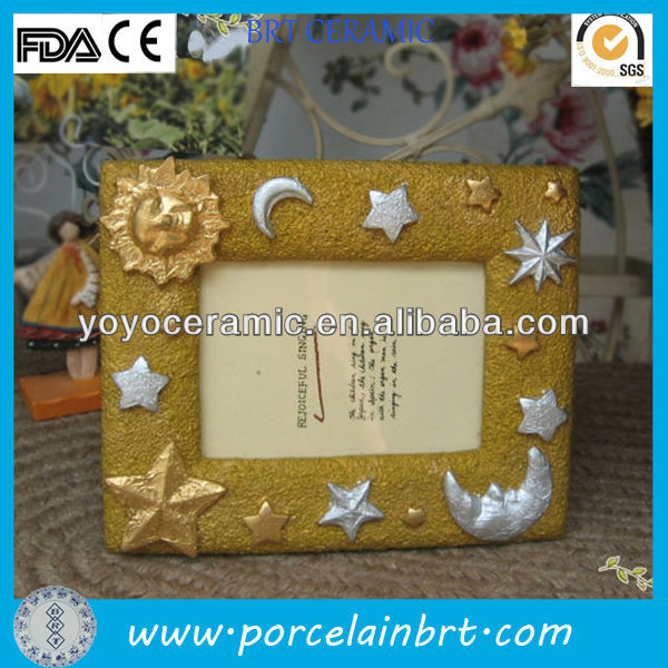 rectangle gold star moon resin frames for pictures
