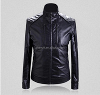 OEM Clothing Factory Latest Designs Slim Fit Shiny Leather Jackets For Mens