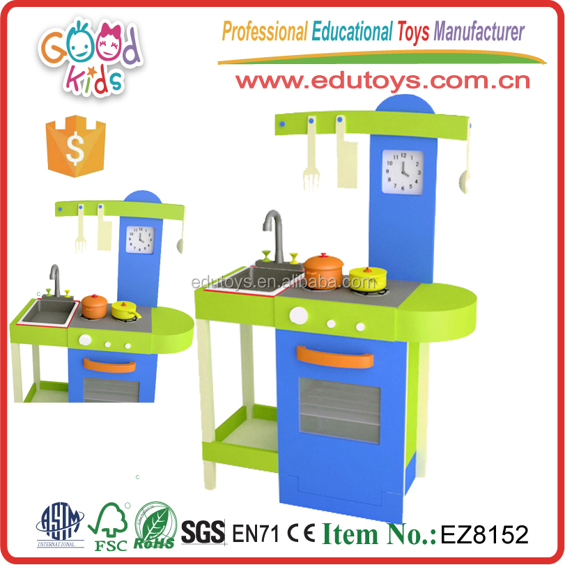 Original New Design Educational Children Pretend Play Wooden Cookin Toy Kids Kitchen Set