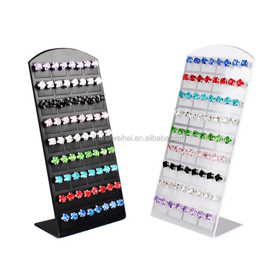 L shape jewelry packaging & display  earring display rack