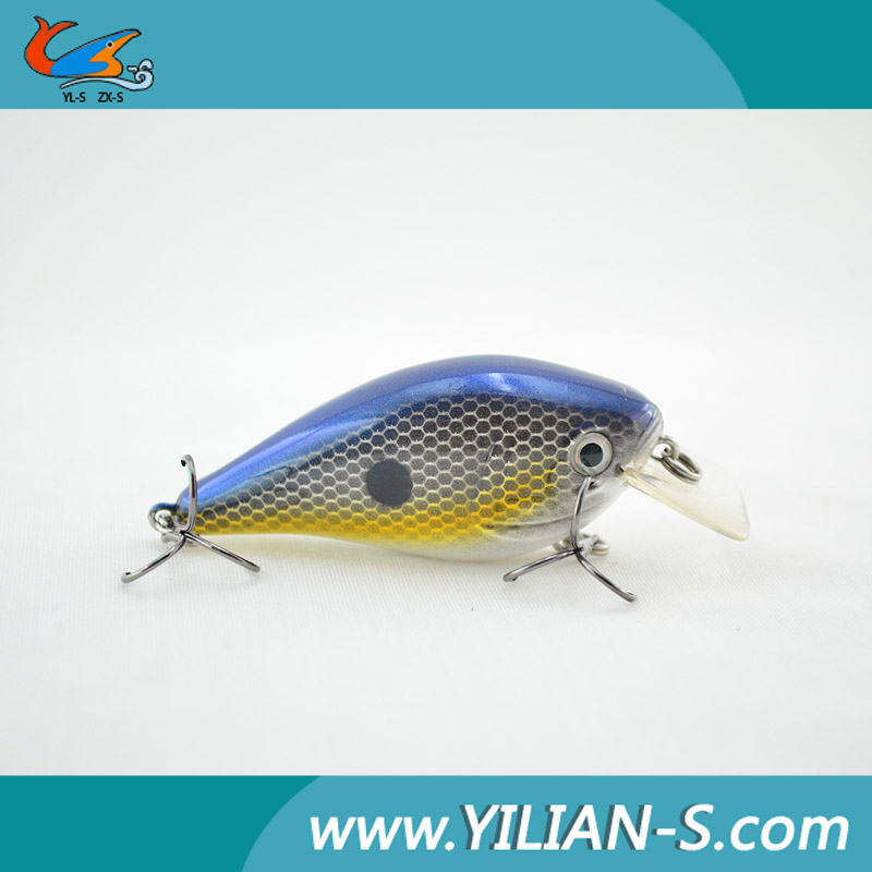Arrival 2016 New lure 69mm 12.7g noise model crankbait fishing gear , wholesale fishing bait and tackle