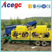 New design portable gold separating machine with wheels,movalbe gold panning washing equipments