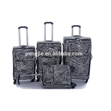 Stripe trendy PU leather trolley bag luggage