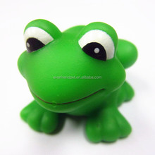 2014 Lovely mechanical dog toy /green frog dog toy