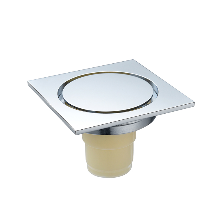 Traditional 10cm brass floor drain for bathroom with round drain cover