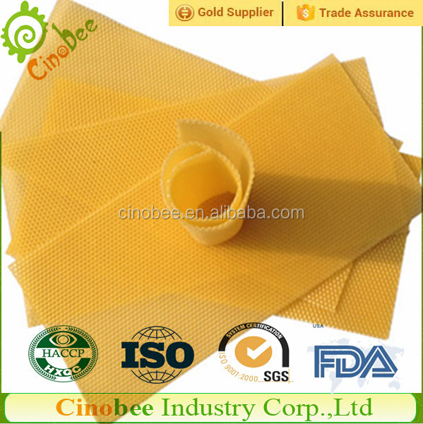 Good Toughness Natural Pure Beeswax Foundation / honeycomb foundation sheet