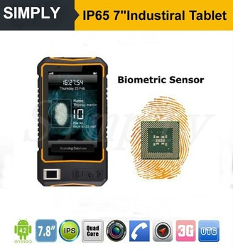 Simply T9 7inch Ip65 Waterproof Front Nfc Android Tablet With Rfid Reader Built In Barcode Fingerprint Scanner 4G Lte