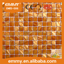 Hot sale gold raw mother of pearl shell mosaic tiles dyeing wall mosaic tile