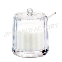 Hot Foodgrade Swirl Design Clear Acrylic Condiment Container with spoon