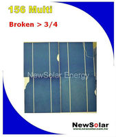 15# 156 Multi 2BB >3/4 Broken silicon solar cells