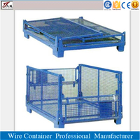 Warehouse metal container folding steel crates