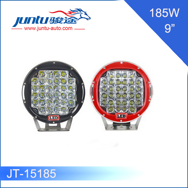 High quality 9-32v DC 15000lm 12v@15.4A 9 inch 185w off road led driving light