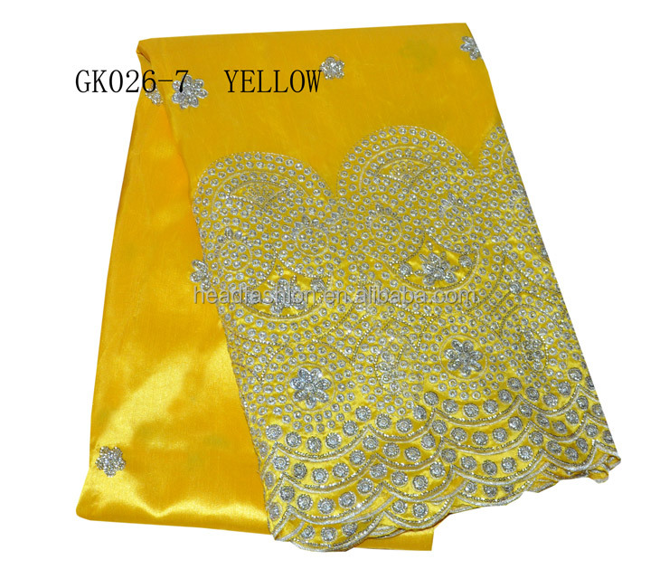 GK026-7--yellow- wholesale raw silk george wrappers